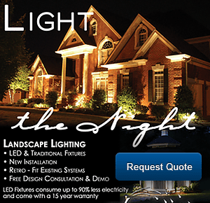 Request a quote for landscape lighting